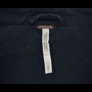 Free People Jackets & Coats - Free People Black Ruffled Surplus Jacket Coat S